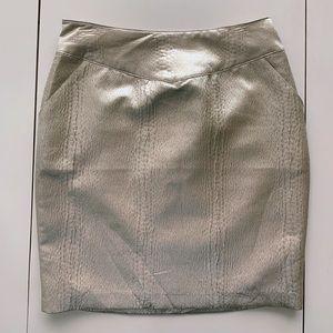 Love21 Metallic Champagne Brocade Short Skirt 🍾